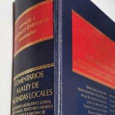 Libros de segunda mano: COMENTARIOS A LA LEY DE HACIENDAS LOCALES - REAL DECRETO LEG ALONSO MAS, Mª JOSE / BAEZA DIAZ-PORTAL. Lote 277763408