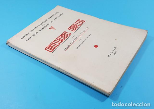 Libros de segunda mano: CONCURSO OPOSICION AUXILIARES ADMINISTRATIVOS DEL INSTITUTO NACIONAL PREVISION 1943 119 PAGINAS - Foto 2 - 278189368