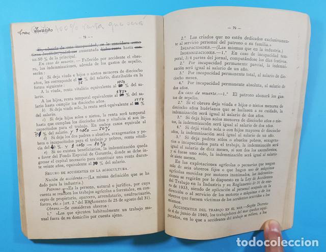 Libros de segunda mano: CONCURSO OPOSICION AUXILIARES ADMINISTRATIVOS DEL INSTITUTO NACIONAL PREVISION 1943 119 PAGINAS - Foto 4 - 278189368