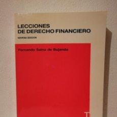 Libros de segunda mano: LIBRO - LECCIONES DE - DERECHO - FINANCIERO - FACULTAD UNIVERSIDAD COMPLUTENSE. Lote 278846723