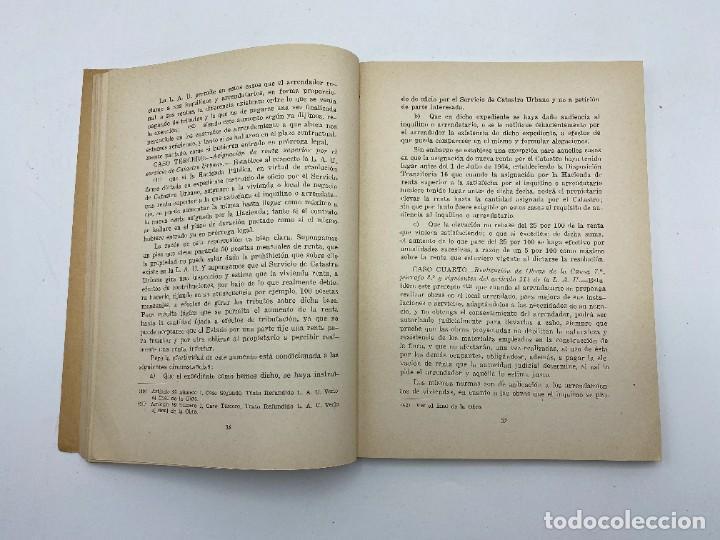 Libros de segunda mano: LAS RENTAS. EN EL ARRENDAMIENTO URBANO. MIGUEL FERNANDEZ. CADIZ, 1965. PAGS: 173 - Foto 3 - 278982633