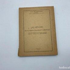 Libros de segunda mano: LAS RENTAS. EN EL ARRENDAMIENTO URBANO. MIGUEL FERNANDEZ. CADIZ, 1965. PAGS: 173. Lote 278982768