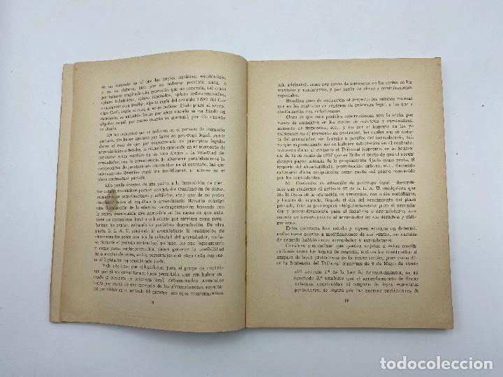 Libros de segunda mano: LAS RENTAS. EN EL ARRENDAMIENTO URBANO. MIGUEL FERNANDEZ. CADIZ, 1965. PAGS: 173 - Foto 4 - 278982768