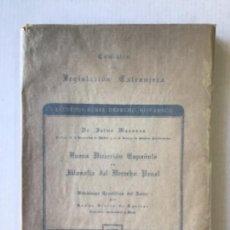 Libros de segunda mano: NUEVA DIRECCIÓN ESPAÑOLA EN FILOSOFÍA DEL DERECHO PENAL. - MASAVEU, JAIME.. Lote 123215406