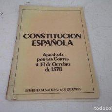 Libros de segunda mano: CONSTITUCIÓN ESPAÑOLA, HAUSER Y MENET, MADRID, 1978. Lote 287594853