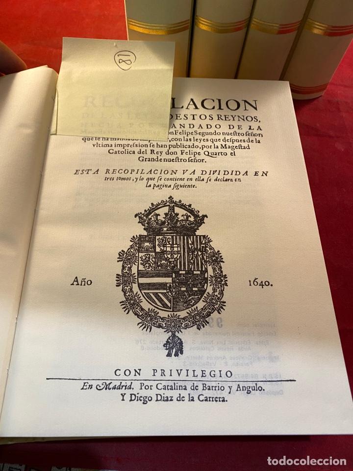 Libros de segunda mano: RECOPILACIÓN DE LAS LEYES DE ESTOS REYNOS - Foto 4 - 287655063