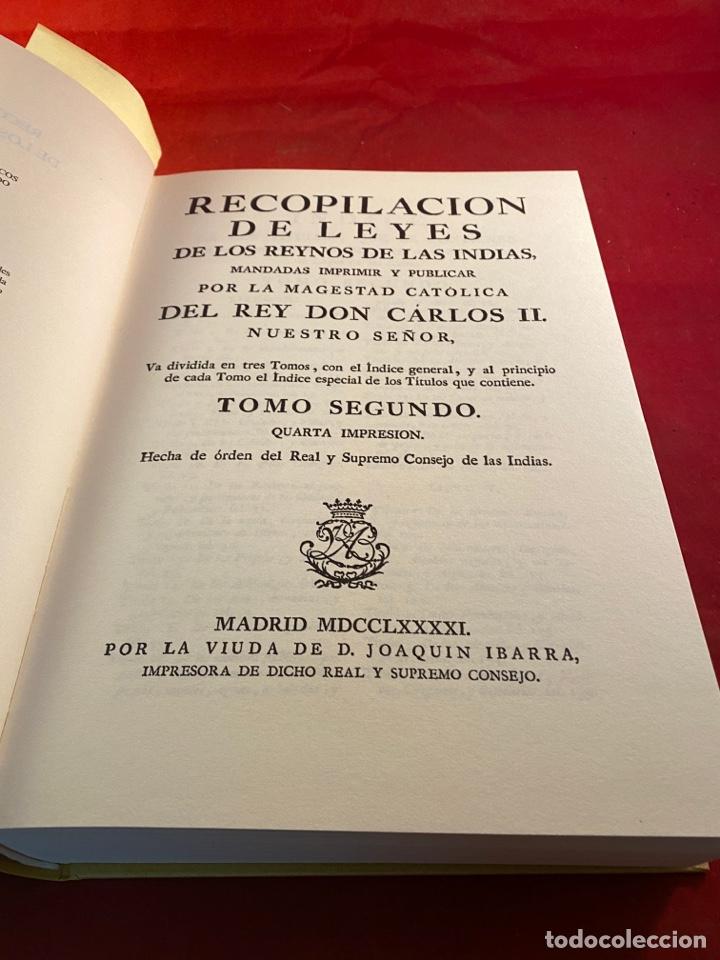 Libros de segunda mano: RECOPILACIÓN DE LEYES DE LOS REYNOS DE LAS INDIAS - Foto 3 - 287663593