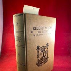 Libros de segunda mano: RECOPILACIÓN DE LEYES DE LOS REYNOS DE LAS INDIAS. Lote 287663593