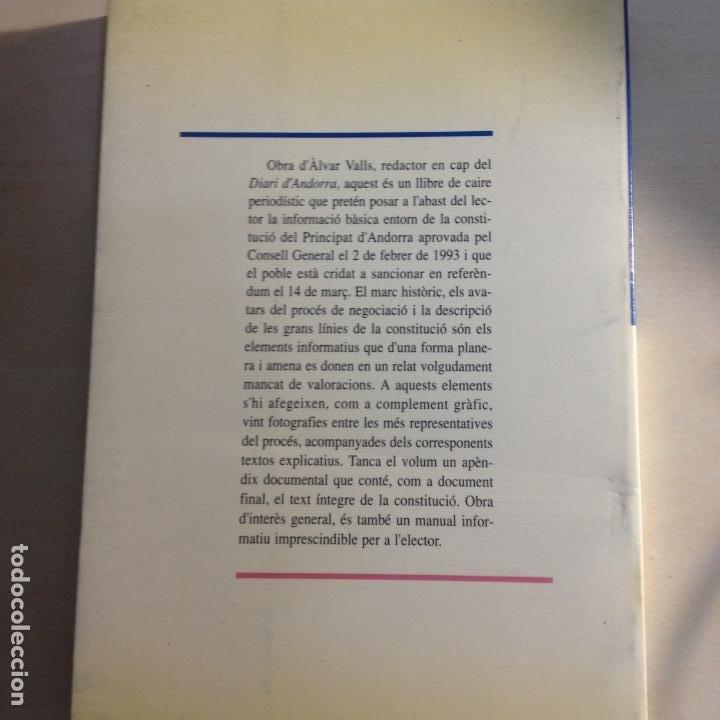 Libros de segunda mano: LA NOVA CONSTITUCIÓ DANDORRA - ÀLVAR VALLS - PREMSA ANDORRANA S.A. - 1ª EDIC. 1993 - Foto 5 - 287683853