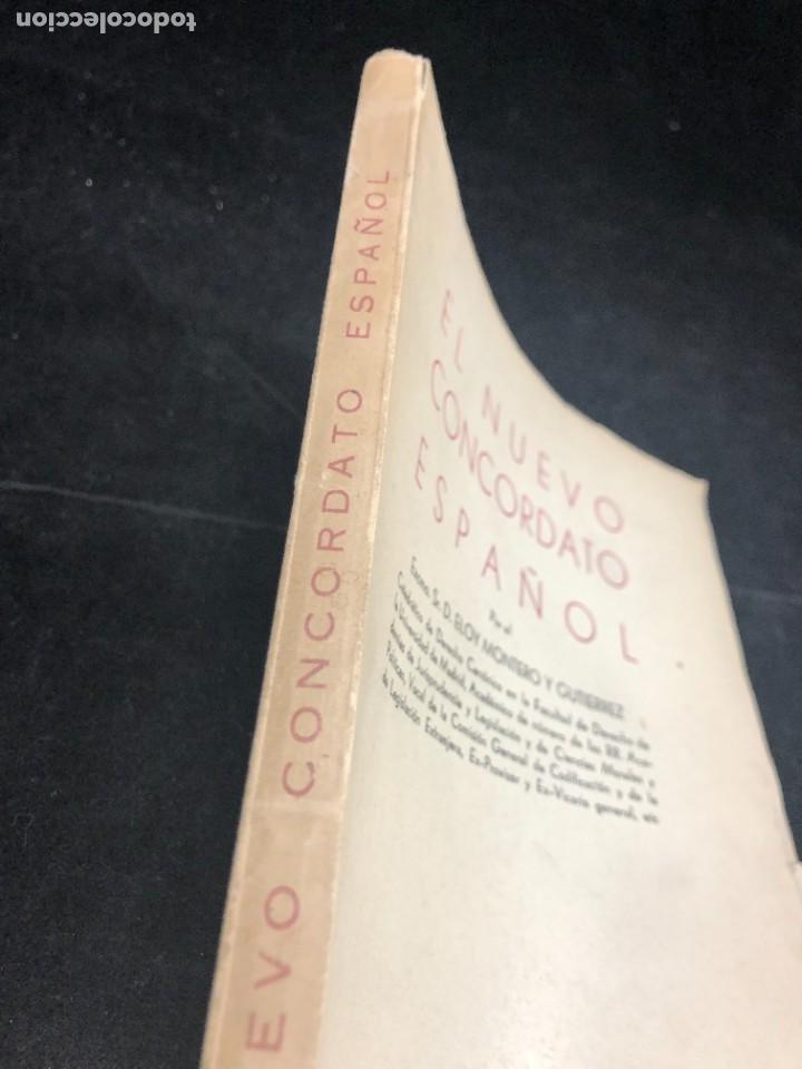 Libros de segunda mano: El nuevo concordato español. Eloy Montero y Gutierrez 1954 - Foto 2 - 287780718
