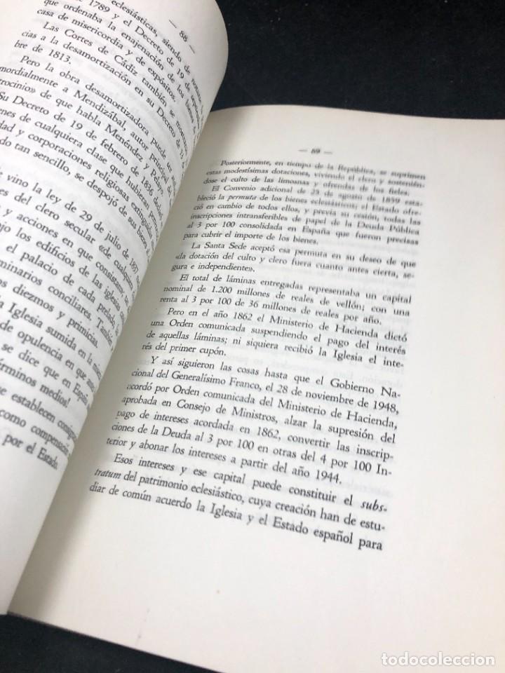 Libros de segunda mano: El nuevo concordato español. Eloy Montero y Gutierrez 1954 - Foto 6 - 287780718