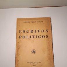 Libros de segunda mano: ESCRITOS POLÍTICOS. EUGENIO VEGAS LATAPIE. MADRID 1940. INTONSO.. Lote 288127178