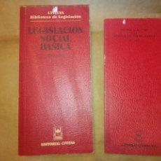Libros de segunda mano: LEGISLACIÓN SOCIAL BÁSICA CIVITAS. Lote 288410863