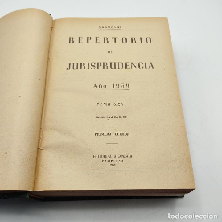 Libros de segunda mano: REPERTORIO DE JURISPRUDENCIA. EDITORIAL ARANZADI. TOMO XXVI. 1ª ED. 1959. PAGS. 1600. - Foto 3 - 288565033