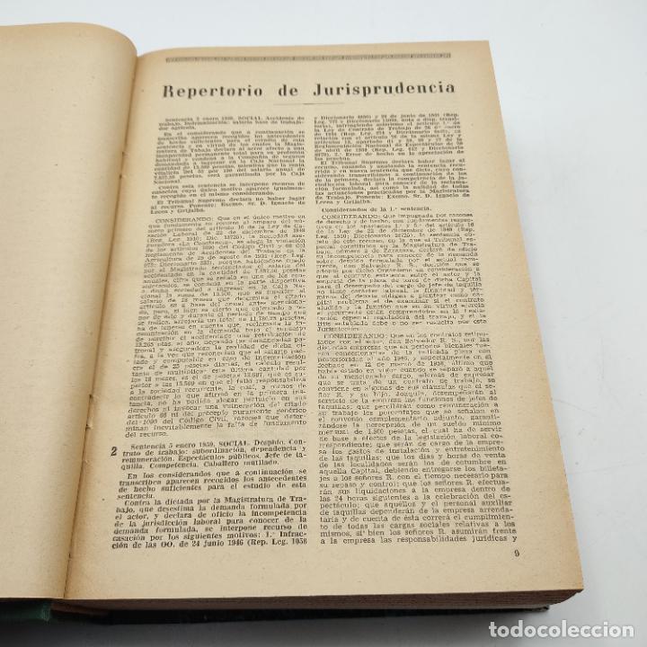 Libros de segunda mano: REPERTORIO DE JURISPRUDENCIA. EDITORIAL ARANZADI. TOMO XXVI. 1ª ED. 1959. PAGS. 1600. - Foto 4 - 288565033