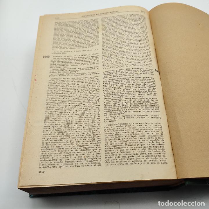 Libros de segunda mano: REPERTORIO DE JURISPRUDENCIA. EDITORIAL ARANZADI. TOMO XXVI. 1ª ED. 1959. PAGS. 1600. - Foto 5 - 288565033