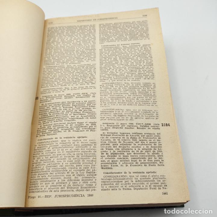 Libros de segunda mano: REPERTORIO DE JURISPRUDENCIA. EDITORIAL ARANZADI. TOMO 2. 1ª ED. 1960. PAGS. DESDE 1441 A LA 2898.. - Foto 3 - 288565113