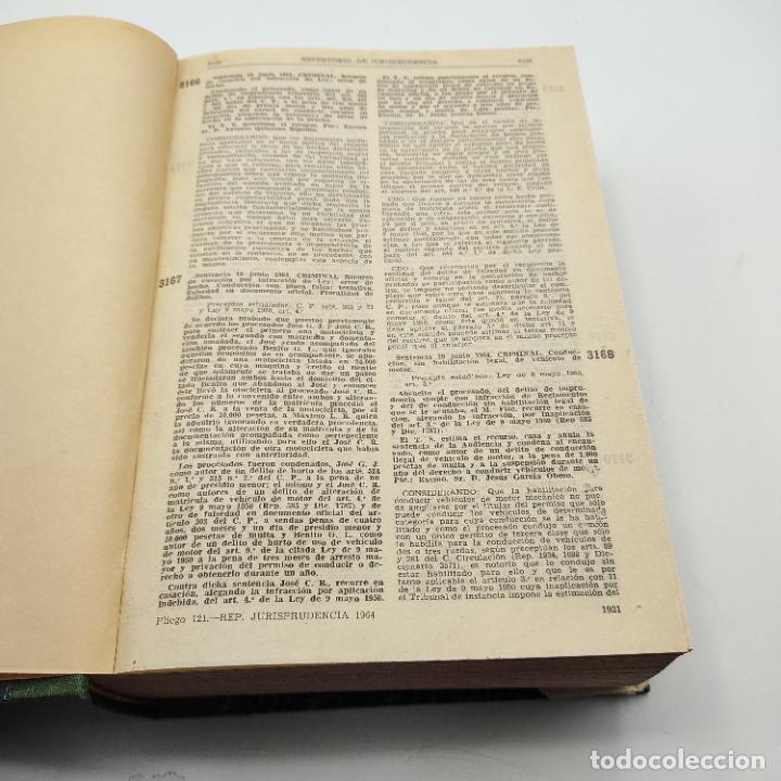 Libros de segunda mano: REPERTORIO DE JURISPRUDENCIA. EDITORIAL ARANZADI. TOMO 2. 1ª ED. 1964. PAGS. DESDE 1921 A LA 3818. - Foto 3 - 288565683