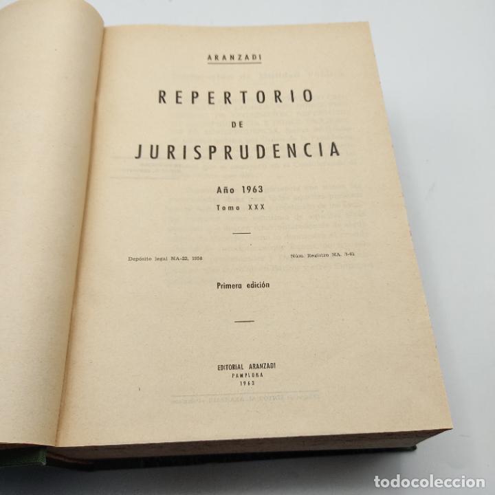 Libros de segunda mano: REPERTORIO DE JURISPRUDENCIA. EDITORIAL ARANZADI. TOMO XXX. 1ª ED. 1963. PAGS. 1824. - Foto 3 - 288565813