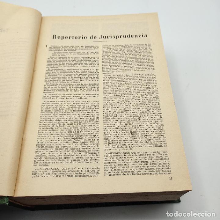 Libros de segunda mano: REPERTORIO DE JURISPRUDENCIA. EDITORIAL ARANZADI. TOMO XXX. 1ª ED. 1963. PAGS. 1824. - Foto 4 - 288565813