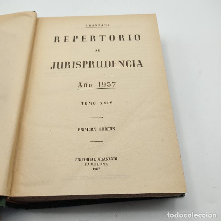 Libros de segunda mano: REPERTORIO DE JURISPRUDENCIA. EDITORIAL ARANZADI. TOMO XXIV. 1ª ED. 1957. PAGS. 1264. - Foto 2 - 288565978