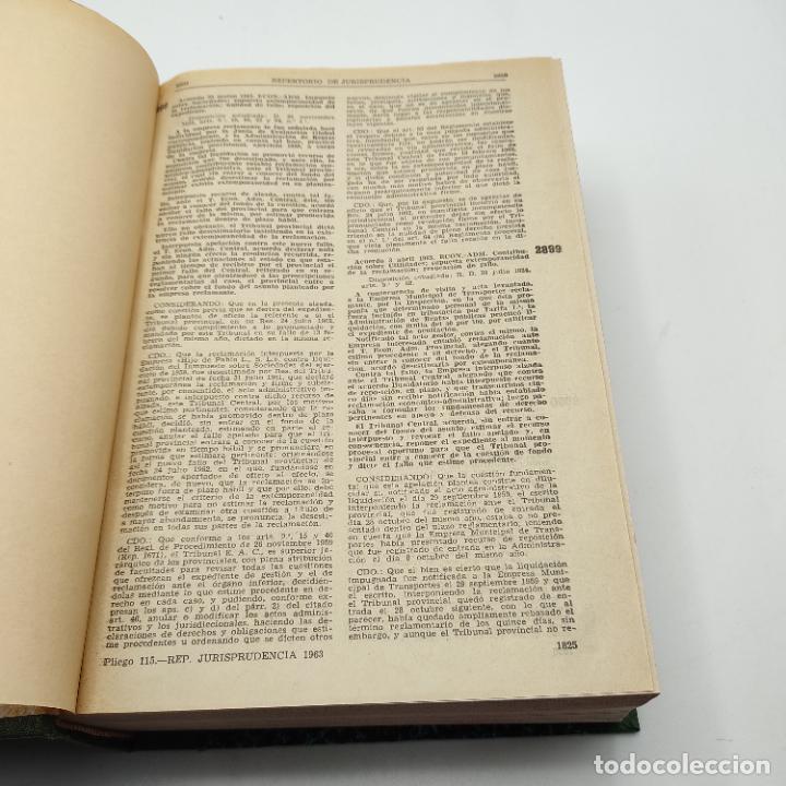 Libros de segunda mano: REPERTORIO DE JURISPRUDENCIA. EDITORIAL ARANZADI. TOMO 2. 1ª ED. 1963. PAGS. DESDE 1825 A LA 3634. - Foto 3 - 288566288