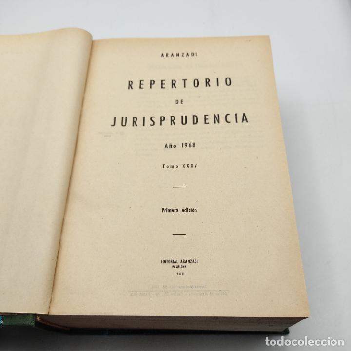 Libros de segunda mano: REPERTORIO DE JURISPRUDENCIA. EDITORIAL ARANZADI. TOMO XXXV. 1ª ED. 1968. PAGS. 1144. - Foto 3 - 288566553