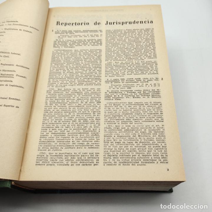 Libros de segunda mano: REPERTORIO DE JURISPRUDENCIA. EDITORIAL ARANZADI. TOMO XXXV. 1ª ED. 1968. PAGS. 1144. - Foto 4 - 288566553