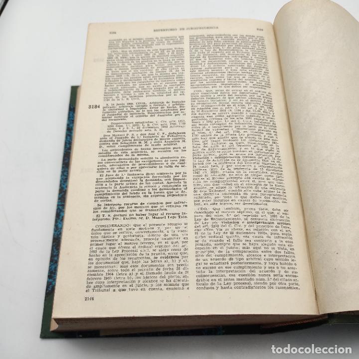 Libros de segunda mano: REPERTORIO DE JURISPRUDENCIA. EDITORIAL ARANZADI. TOMO XXXV. 1ª ED. 1968. PAGS. 1144. - Foto 5 - 288566553