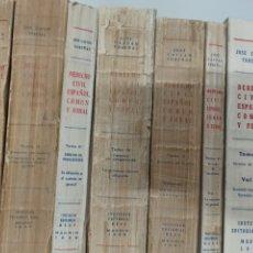 Libros de segunda mano: CASTAN TOBEÑAS: DEECHO CIVIL ESPAÑOL, 7 VOLÚMENES, AÑOS 50, 60, 70. EDIT. REUS. ALGUNOS SUBRAYADOS.. Lote 288700763