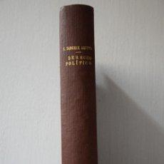 Libros de segunda mano: LECCIONES DE DERECHO POLITICO - LUIS SANCHEZ AGESTA - 1947. Lote 288981903
