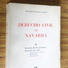 Libros de segunda mano: DERECHO CIVIL DE NAVARRA - DERECHO DE LAS PERSONAS DERECHO DE COSAS: DE LOS BIENES EN GENERAL, DEL. Lote 295360713