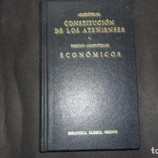 Libri di seconda mano: CONSTITUCIÓN DE LOS ATENIENSES-ECONÓMICOS, ARISTÓTELES, ED. BIBLIOTECA CLÁSICA GREDOS. Lote 295411748