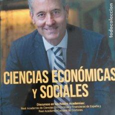 Libros de segunda mano: CIENCIAS ECONÓMICAS Y SOCIALES. DISCURSOS REALES ACADEMIAS. BARQUERO CABRERO. MCGRAWHILL. 2015. Lote 295486628