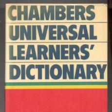 Diccionarios de segunda mano: CHAMBERS UNIVERSAL LEARNERS' DICTIONARY. 54.000 EXAMPLES OF MODERN ENGLISH USAGE. DICCIONARIO INGLÉS. Lote 27088210