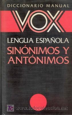 DICCIONARIO DE SINONIMOS Y ANTONIMOS (Libros de Segunda Mano - Diccionarios)