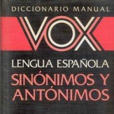 Diccionarios de segunda mano: DICCIONARIO DE SINONIMOS Y ANTONIMOS. Lote 26800054