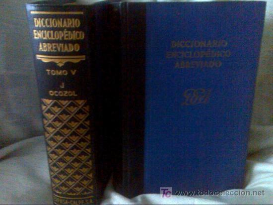 DICCIONARIO ENCICLOPÉDICO DE ESPASA CALPE AÑO 1957 8 TOMOS (Libros de Segunda Mano - Diccionarios)