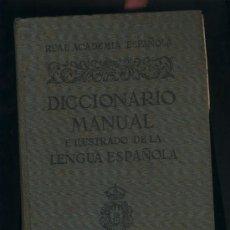 Diccionarios de segunda mano: DICCIONARIO MANUAL E ILUSTRADO DE LA LENGUA ESPAÑOLA.REAL ACADEMIA.ESPASA-CALPE.2ª ED.1950. Lote 39304985