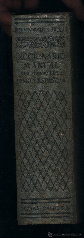 Diccionarios de segunda mano: Diccionario Manual e ilustrado de la Lengua Española.Real Academia.Espasa-Calpe.2ª ed.1950 - Foto 2 - 39304985