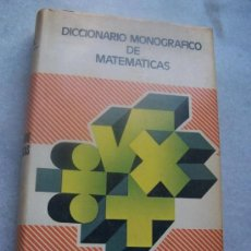 Diccionarios de segunda mano: DICCIONARIO MONOGRÁFICO DE MATEMÁTICAS- VOX- BIBLOGRAF- 1981-.. Lote 20883043