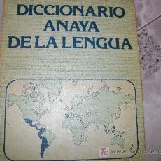 Diccionarios de segunda mano: DICCIONARIO ANAYA DE LA LENGUA, 1979. Lote 12345992