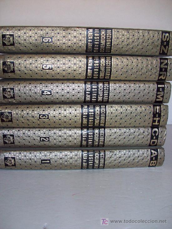 DICCIONARIO ENCICLOPEDIDO ILUSTRADO. PLAZA & JANÉS. 6 VOLÚMENES (Libros de Segunda Mano - Diccionarios)