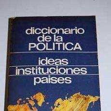 Diccionarios de segunda mano: DICCIONARIO DE LA POLÍTICA POR JEAN NOEL AQUISTAPACE DE MAGISTERIO ESPAÑOL EN MADRID 1972 2ª EDICIÓN. Lote 26148193