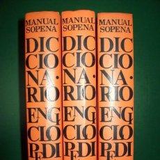 Diccionarios de segunda mano - Diccionario Manual Sopena Enciclopédico e Ilustrado (3 tomos) - 27518138