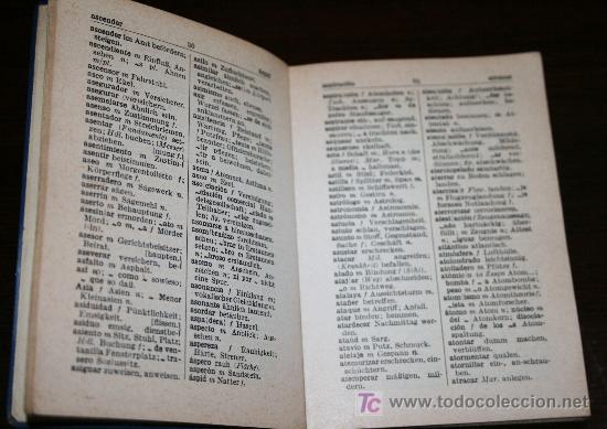 Diccionarios de segunda mano: MINI DICCIONARIO ALEMÁN - ESPAÑOL - 1960 - Foto 3 - 23334715