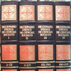 Diccionarios de segunda mano: DICCIONARIO UNESCO DE CIENCIAS SOCIALES (4 TOMOS) (A-SOC-066). Lote 15057866