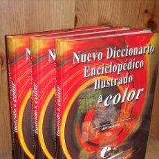 Diccionarios de segunda mano: NUEVO DICCIONARIO ENCICLOPÉDICO ILUSTRADO A COLOR 3T (COMPLETO) DE ARTE HOGAR EUROPA, BARCELONA 2000. Lote 25488451