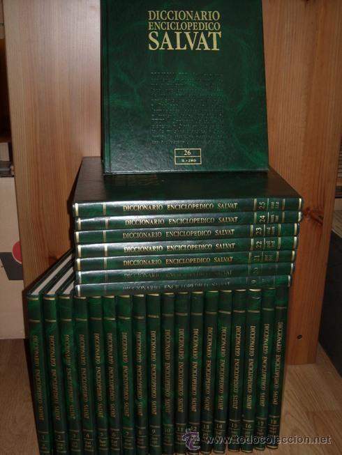 DICCIONARIO ENCICLOPÉDICO SALVAT (26 TOMOS-COMPLETO) DIRIGIDO POR JOAQUÍN MARCO EN NAVARRA 1989 (Libros de Segunda Mano - Diccionarios)