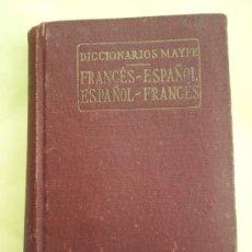 Diccionarios de segunda mano: MINI DICCIONARIO FRANCES ESPAÑOL , ESPAÑOL FRANCES , 1958 EDITORIAL MAYFE. Lote 18316744